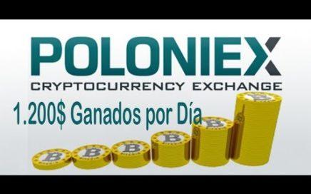 Como ganar dinero con Poloniex ( 1.200 USD DIARIOS)
