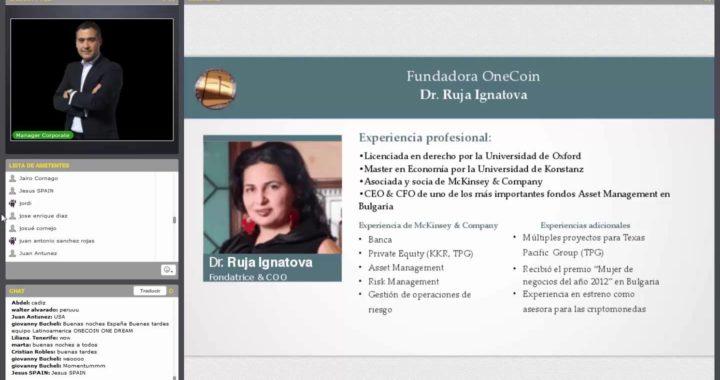 "4- Con Onecoin ""Make Money Online"", aprenda como ganar dinero por internet."