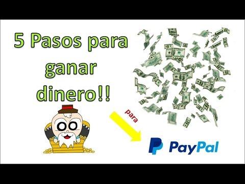 5 PASOS PARA EMPEZAR A GANAR DINERO FACIL POR INTERNET PARA PAYPAL
