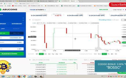 ABUCOINS - Gana bitcoin gratis haciendo operaciones de trading (Sin fees)