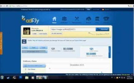 AdFly Como Crear una cuenta ganar Dinero Rapido