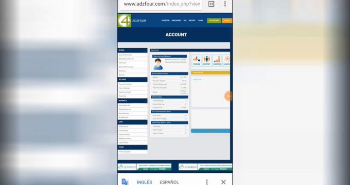 adzfour. como ganar dinero mirando anuncios por click