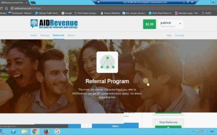 AIDRevenue gana dinero por encuestas e invitar amigos paypal payza payoneer CPA (NO PAGA, SCAM)