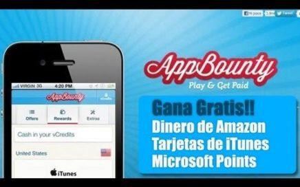 AppBounty |Gana dinero en amazon, apps y microsoft points completamente gratis!!