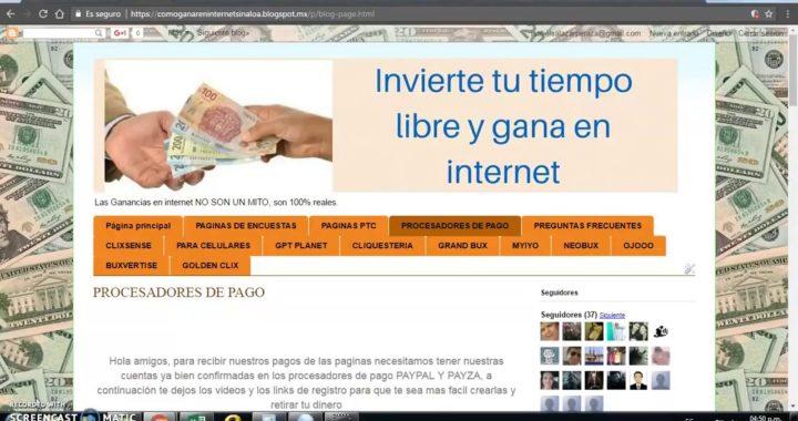 Aprende a ganar dinero en internet