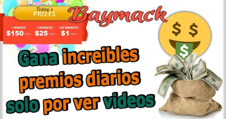 Baymack actualización|Gana dinero por ver videos de youtube