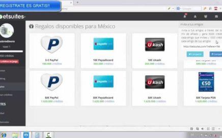 BETSUITES nueva pagina para ganar DINERO APOSTANDO GRATIS Jugando pago por PayPal