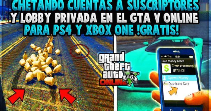 CHETANDO CUENTA A SUSCRIPTORES Y LOBBY PRIVADA PARA (PS4 & XBOX ONE & XBOX 360 & PS3)