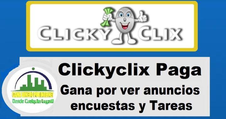 Clickyclix Paga por Paypal | Gana Dinero Viendo Anuncios | clickyclix en español