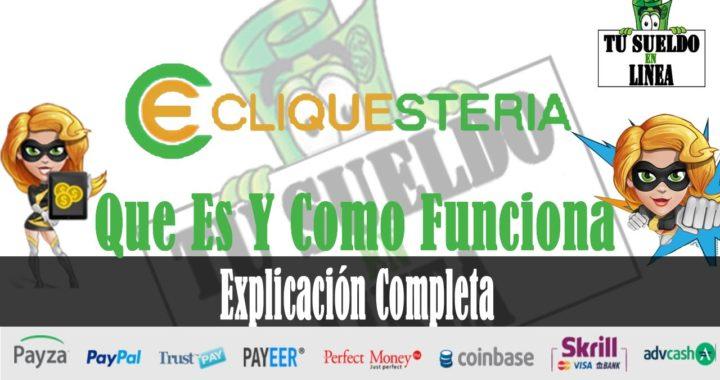 Cliquesteria   Como Ganar Dinero Para Paypal y Payza   Cliquesteria Que Es Y Como Funciona