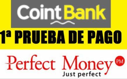 COINTBANK $10.00 COMPROBANTE DE PAGO - PERFECT MONEY / 28 DE NOVIEMBRE