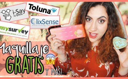 Cómo conseguir MAQUILLAJE GRATIS !!   Ganar dinero con encuestas online   Sofía Morez