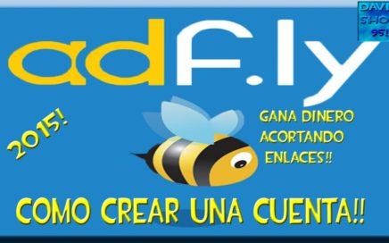 Como crear cuenta Adfly | Gana dinero Paypal  | Acortador de enlace