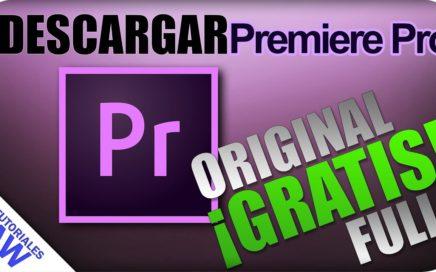 Como descargar Adobe Premiere Pro CC 2018 (ORIGINAL) (GRATIS)