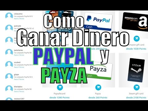 Como Ganar CASH 2016 con PAYPAL y PAYZA Como Ganar Dinero Para PAYPAL y PAYZA