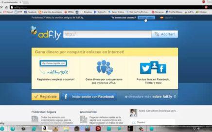 Como Ganar Dinero Con Adfly Facil Rapido y Sencillo ( 2013 )