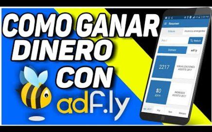 COMO GANAR DINERO CON ADFLY GANA DINERO FASIL DESDE CASA CON ADF.LY EL MEJOR CORTADOR DE URL