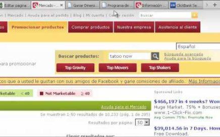 Como Ganar Dinero Con Clickbank | Hacer Dinero Internet | Trabajando desde Casa | Tutorial