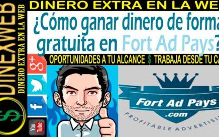 Como ganar dinero de forma gratuita en FortAdPays 2016 | DINERO EXTRA EN LA WEB