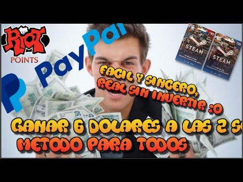 Como Ganar Dinero Fácilmente En Dolares Para Paypal - Dinero Para Steam Y Riots Point/ 2016