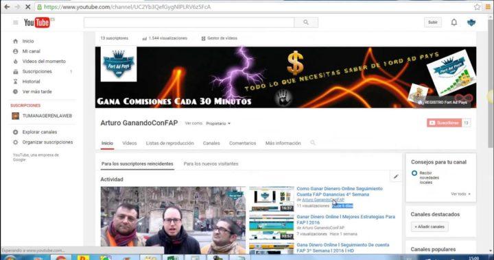 Como Ganar Dinero Online l Seguimiento Cuenta FAP 5º Semana l 95$ Semanales l 2016