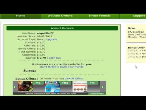 Como Ganar Dinero Para Paypal Con AWSurveys Septiembre Octubre 2013