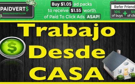 COMO GANAR DINERO POR INTERTET PAIDVERTS| TRABAJO DESDE CASA-  PAIDVERTS INVERSION 170 2