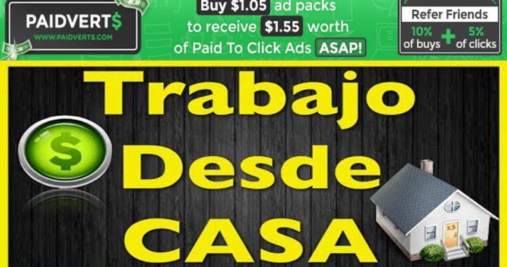 COMO GANAR DINERO POR INTERTET PAIDVERTS  TRABAJO DESDE CASA-  PAIDVERTS INVERSION 170 2