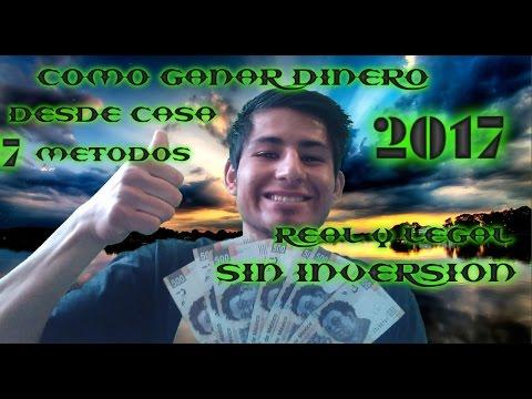 COMO GANAR DINERO REAL DESDE CASA 2017  TOP 7 CERO INVERSION