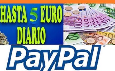 COMO GANAR €5.00 EUROS DIARIOS PARA PAYPAL| GANA DINERO POR INTERNET 2017