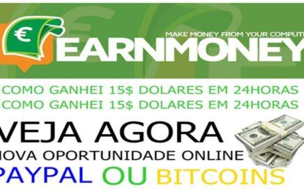 COMO GANHEI $15.00 DÓLARES MINERANDO COM EARNMONEY.NETWORK