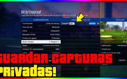 COMO GUARDAR LAS CAPTURAS PRIVADAS!! 10.000$ POR KILL *INCREIBLE* GTA V ONLINE 1.41 (PS4)