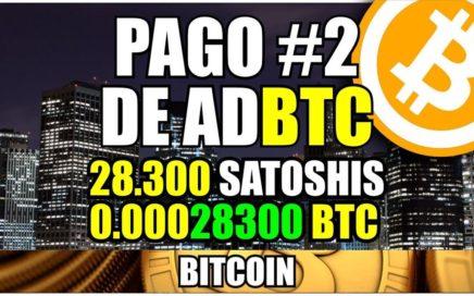 Comprobante de Pago #2 de Adbtc + Consejo | Ganar bitcoin viendo anuncios