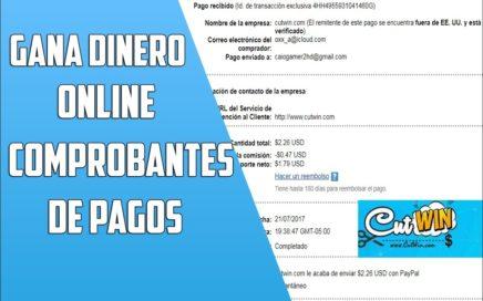 COMPROBANTE DE PAGO 2017| SI PAGA |CUTWIN|GANAR DINERO POR INTERNET | #5