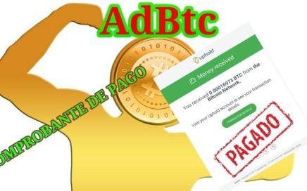 Comprobante de pago de AdBTC | Gana Dinero por Internet 2017