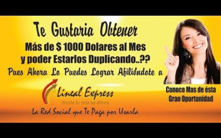 Conoce como Ganar Dinero en Lineal Express/Trabaja desde Casa por Internet