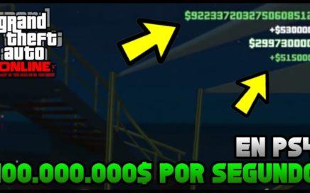 Conseguir 100.000.000$ Por Segundo en PS4 en GTA 5 Online - Hack Dinero Infinito GTA 5 Online PS4