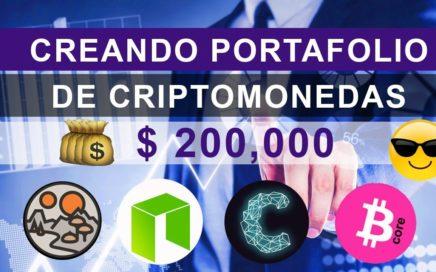 Creando Portafolio Criptomonedas Rentables Con $200,000