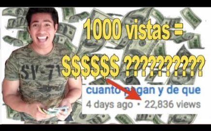 Cuanto me paga YouTube por cada mil vistas, muestro mis ingresos