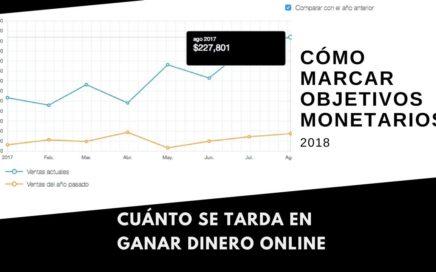 Cuánto se Tarda en Ganar Dinero Online? | Cómo Marcarse Objetivos