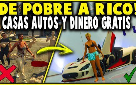 DE POBRES A RICOS! #1 GTA 5 CASAS AUTOS Y DINERO GRATIS! LE CHETO LA CUENTA A UN SUSCRIPTOR! (MONEY)