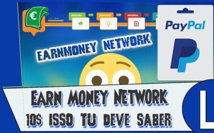 Detalhe Earn Money Network $50 $2,50 Dinheiro Paypal/ VC tem que saber Disso + Prova