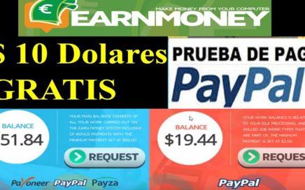 Earn Money Network - $50.00 Dólares gratis a PayPal en 1 dia Tener el PC encendido- Pueba de Pago