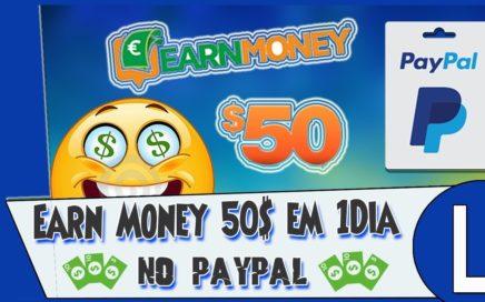 Earn Money Network $50.00 Dólares Paypal em 1Dia Com Pc Ligado