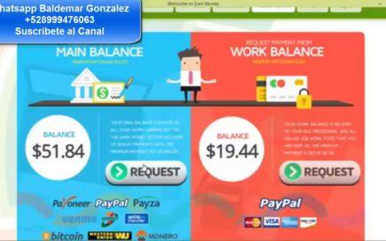 Earn Money Network Prueba de Pago $51.00 Dólares Pago a PayPal En Automatico 2017-2018
