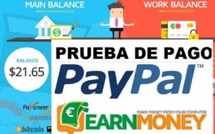 Earn Money Network - PRUEBA DE PAGO A PAYPAL - Gana Dinero por Tener el PC encendido