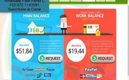 EarnMoney Network Prueba de Pago $51.00 Dólares Pago a PayPal