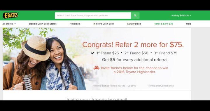 [EBATES] Prueba $430.00 | Gana Dinero Mientras Compras Online BebaDinero