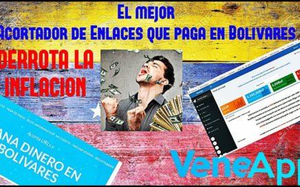 El mejor Acortador de Enlaces que paga en Bolívares | Veneapp (Derrota la inflación) 2017