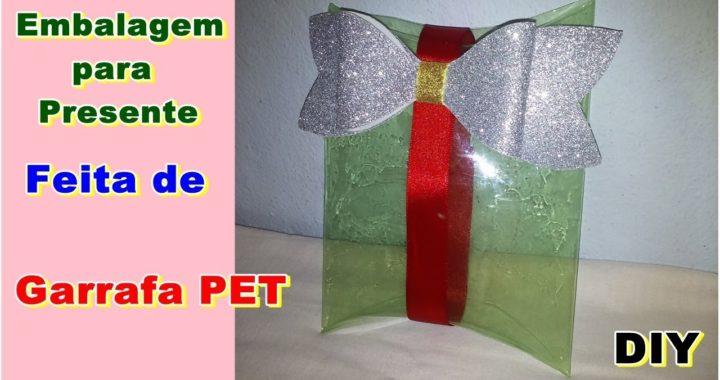 Embalagem para Presente Feita de Garrafa PET | DIY | Como Fazer